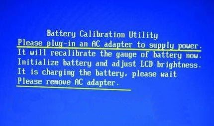laptop battery calibration
