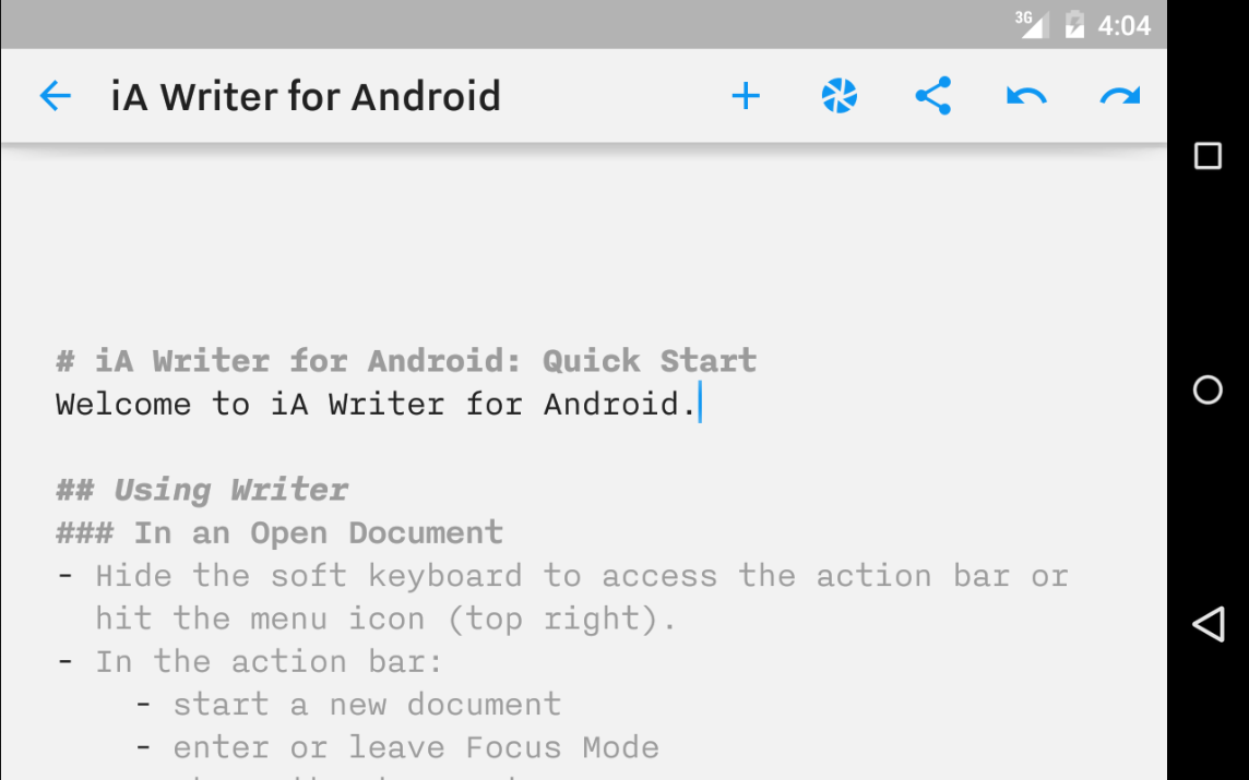 iA Writer Android iOs