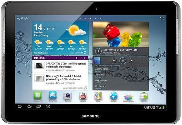 Samsung Tab GALAXY 2 P110 Screen