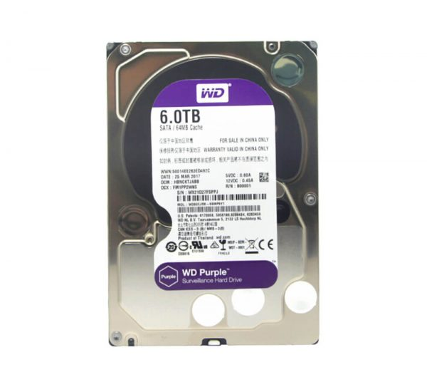 WD HDD 6 TB Purple 3.5in