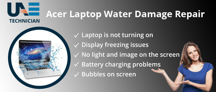 Acer laptop Water Damage Repair