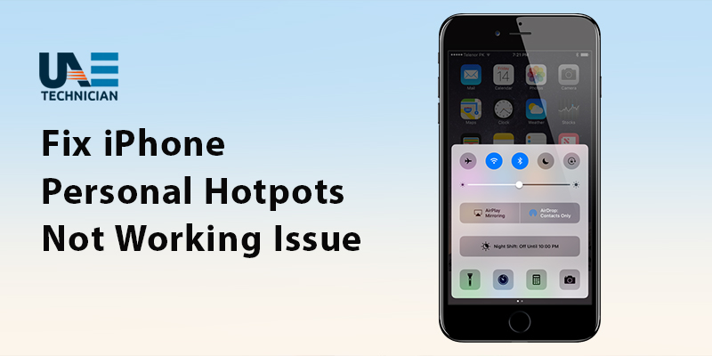 Fix iPhone Personal Hotspot Not Working Issue