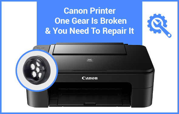 Canon Printer One Gear Is Broken & You Need To Repair It